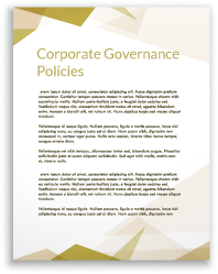 Corporate Governance Policies